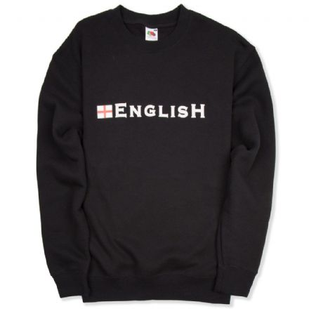 """English"" England Sweatshirt - Black"